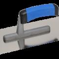 Гладилка стальная с пласт. ручкой 280х130мм плоская