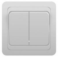 Выкл Powerman CLASSIC 2СП. белый 10А 2023 керамика