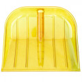 Лопата снег б/чер пласт. 380*440 мм поликарбонат желт d=32мм