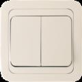 Выкл Powerman CLASSIC 2СП. КРЕМ 10А 2023 керамика