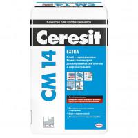 Клей для плитки и керамогранита СМ14 Extra д/внутр. и наруж. работ (25кг)