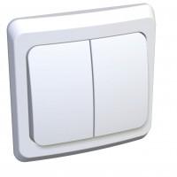 Выкл Ledard 2СП белый 10А