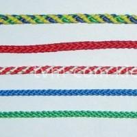 Шнур полиамид плотн.плет. 16,0 мм бел с красн