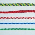 Шнур полиамид плотн.плет. 10,0 мм бел с красн