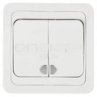 Выкл Валдай 2-кл. СП с подсветкой 10А белый
