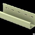 J-планка Ю-Пласт зеленый 3,05м (20шт в упак)