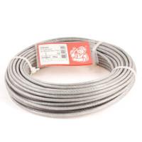 Трос стальной в оболочке PVC 3/4мм (25м)