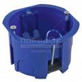 Установочная коробка СП D68x45мм,саморезы,синяя,IP20,инд.штрихкод,TDM SQ1402-0902