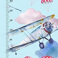 Ростомер Самолетики полноцветный 244x60см