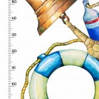 Ростомер Моряк полноцветный 244x60см