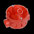 Коробка установочная 80-0500 С безгалогенная (HF) 64х40 с саморезами