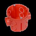 Коробка установочная углубленная 80-0510 С безгалогенная (HF) 64х40 с саморезами