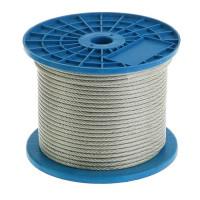 Трос в изоляции DIN 3055 PVC 4/5мм (200м) 066925