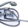 AQ010 AQUAMIX NEW 140 ARMATA EURO 01 смес. д/ванны двуруч.плоск.излив