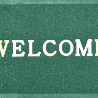 Коврик резин лапша 500*800 ComeForte Welcome зеленый 251175