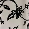 Клеенка стол DEKORAMA 1,4*20м Черный узор (фон-белый) 117А