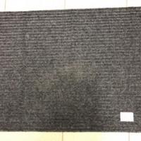 Коврик резин ковролин 40*60см ЧЕРРИ серый