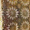 Клеенка стол Lace 1,37*20м Ажурные цветы Золото