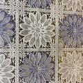 Клеенка стол Lace 1,37*20м Ажурный квадрат крупный цветок