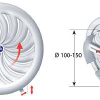 Решетка Авента RM Т 88 круглая, жалюзи, с/с, универсальная