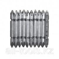 Биты WP, сталь S2, с насечкой, Профи, 70мм PZ2,10шт