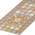 Панели ПВХ (Фриз) Медальон коричневый