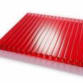 Сотовый поликарбонат 10мм красный 6м