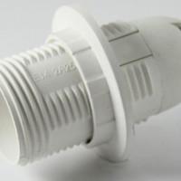 Патрон Е14 с кольцом, термостойкий пластик, белый, TDM SQ0335-0010