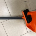 Совок для мусора 25х20 см + щетка-сметка 20х8 см на длинных рукоятках 80 см, пластик, оранжевый, IDE