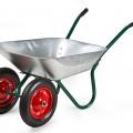 Тач Тачка садовая 160кг/65л 2 колеса, 2 ручки зеленая