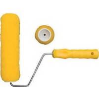 Валик полиэстер., желтый 100мм с рукояткой 01811